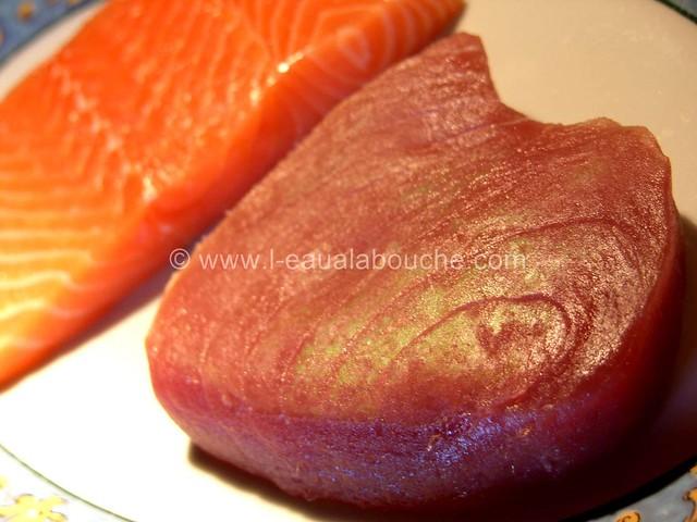 Tataki de Thon et de Saumon © Ana Luthi  Tous droits réservés 1