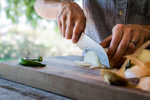 chopping one onion