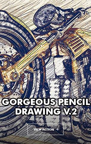 Gorgeous Pencil Drawing V.2 - Photoshop Action