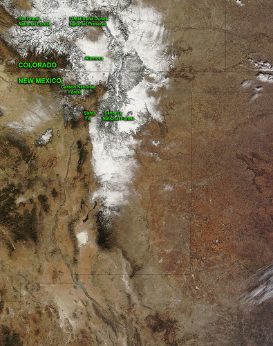 NASA Sees a Giant Snowy Question Mark in New Mexico and Colorado | by NASA Goddard Photo and Video