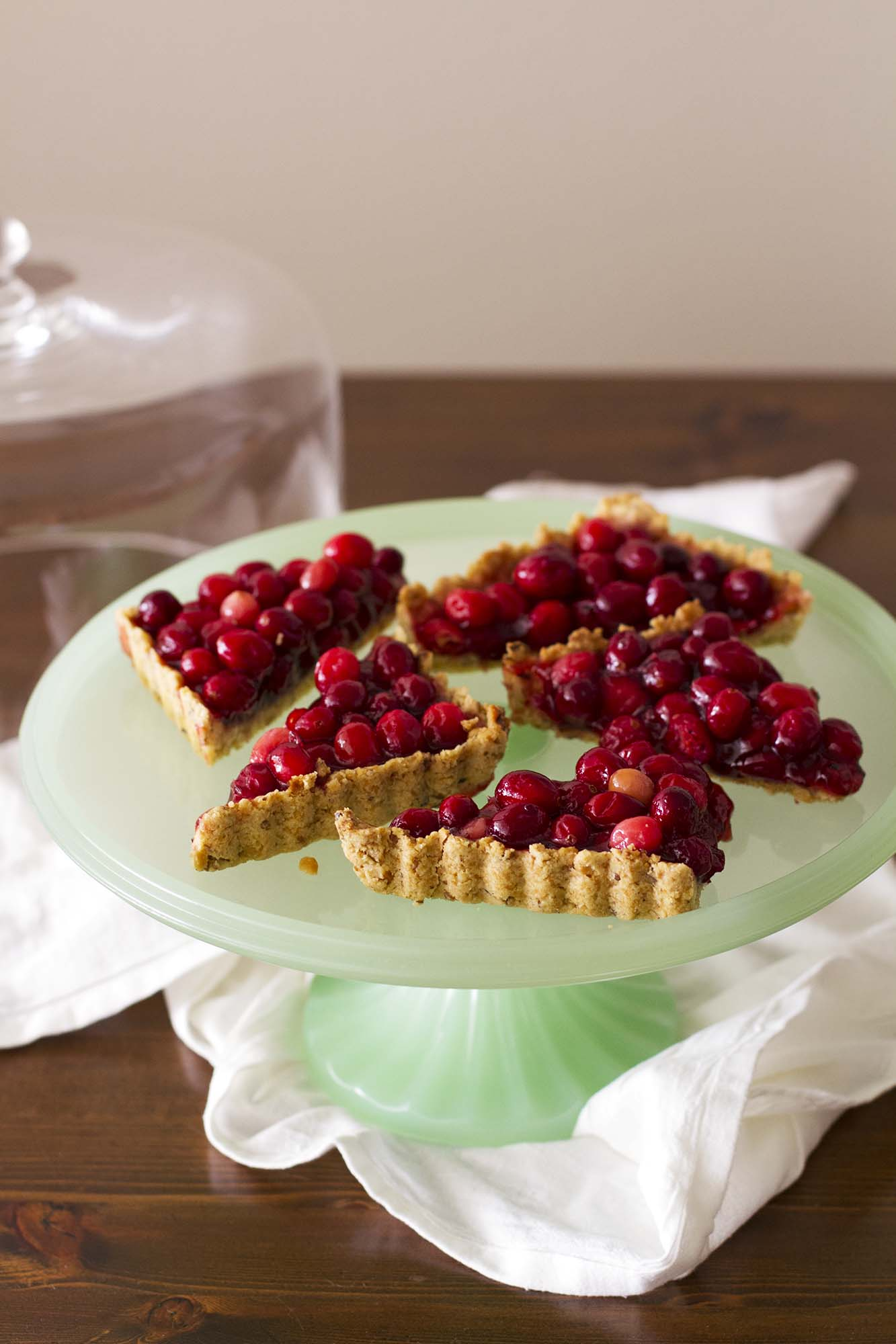 Nut-Crusted Cranberry Tart | girlversusdough.com @girlversusdough