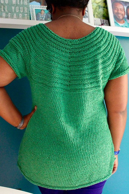 Custom green tunic