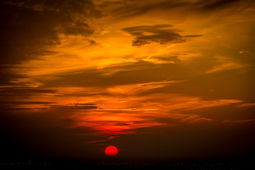 Apocalypse!! Fiery red sunset | by Lisa Bettany {Mostly Lisa}