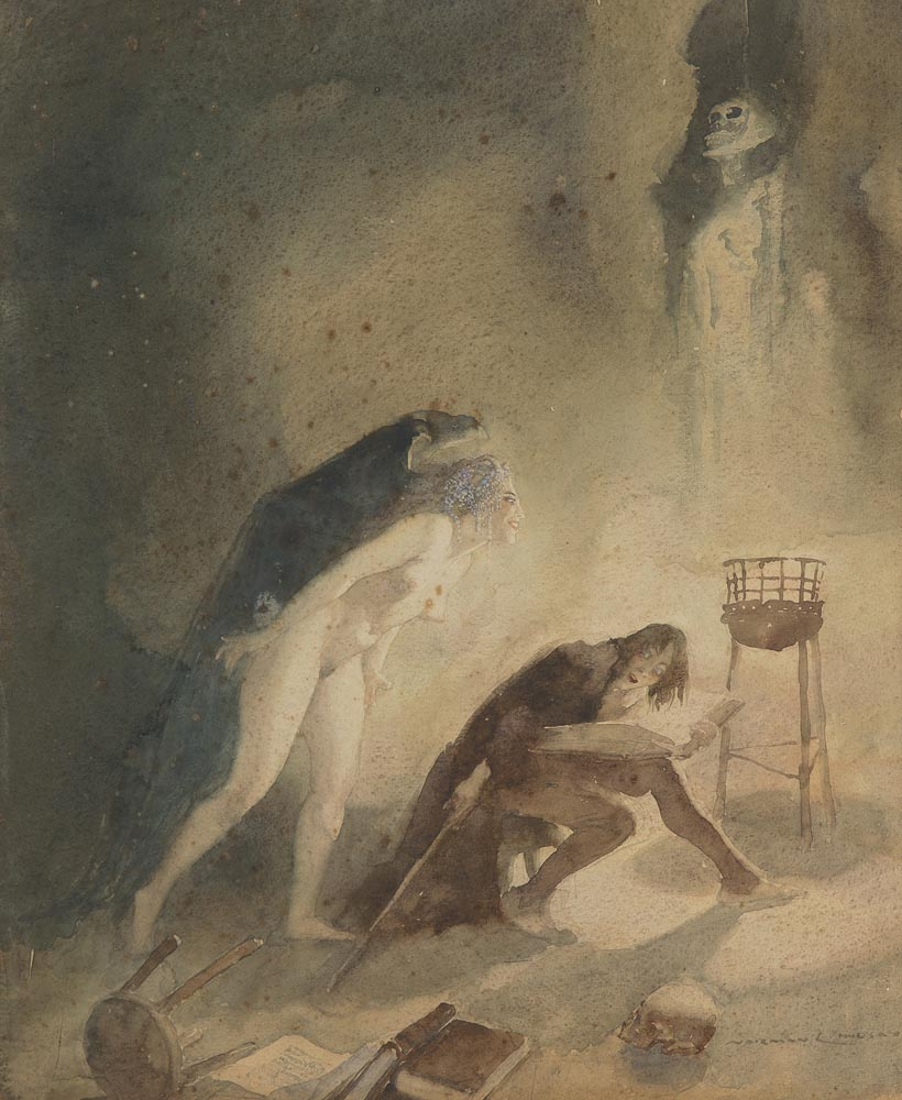 Norman Lindsay - The Pursuit, 1920
