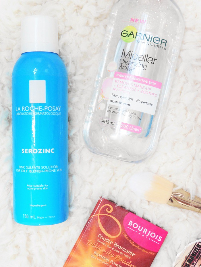 La Roche Posay and Garnier Micellar Cleansing Water