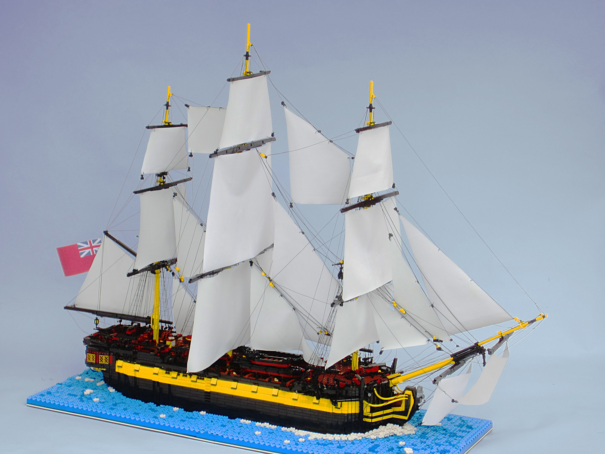 HMS Enterprize - A Minor Refit