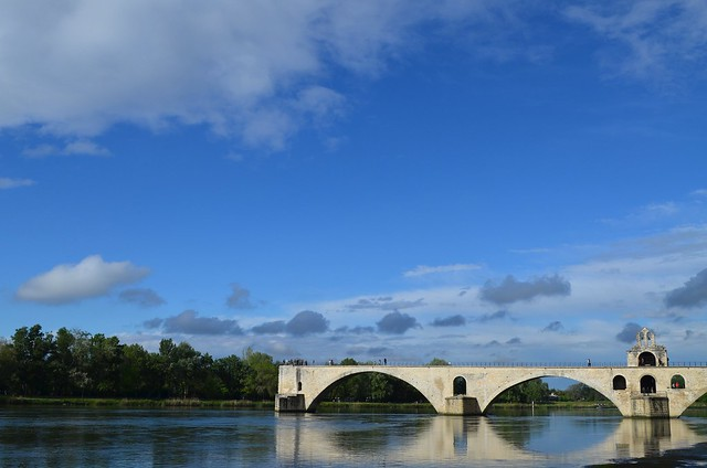 Pont d'Avignon bridge on the Rhône river