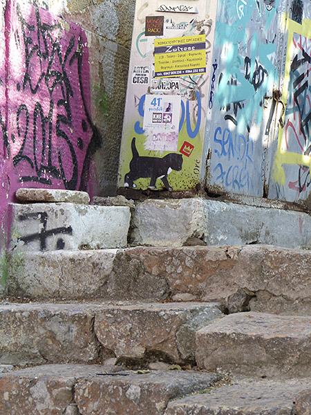 petit chat peint