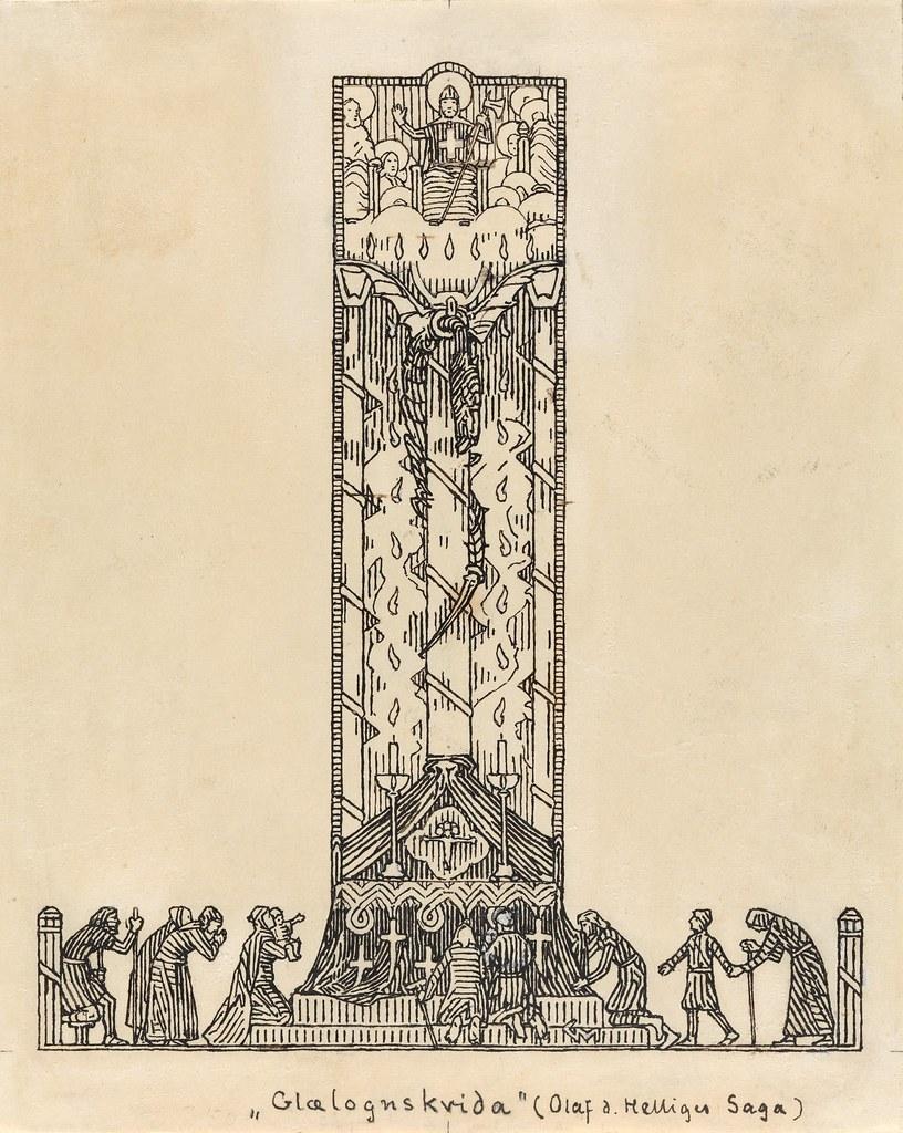 Gerhard Munthe - Glælognskvida, 1895-99