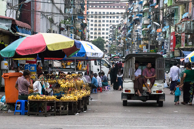 The Streets of Yangon in Myanmar