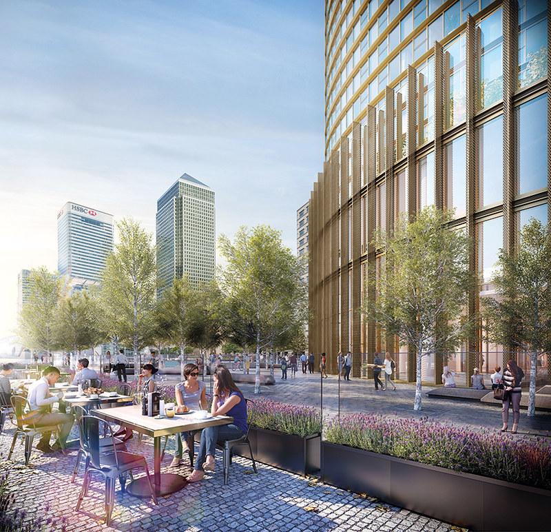 Spire London. Проект небоскреба от HOK