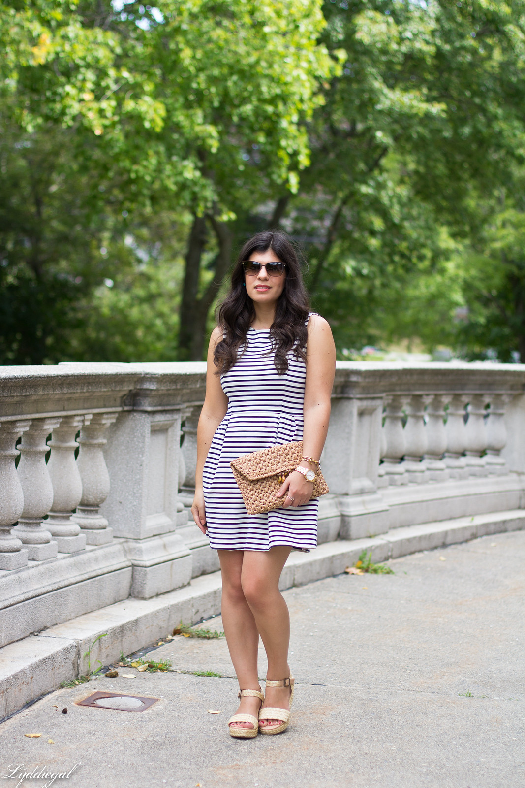 striped dress, espadrille sandals, straw clutch-11.jpg