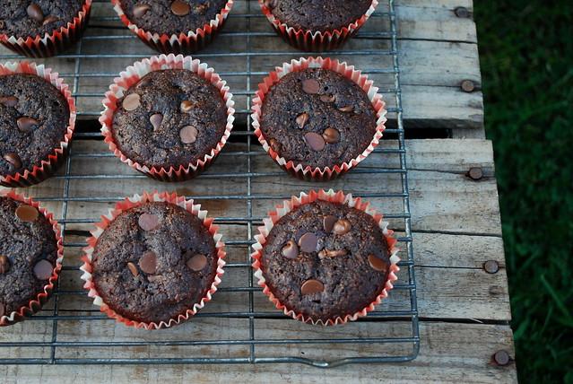 Healthier Chocolate Zucchini Muffins