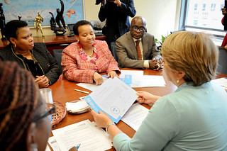 UN Women Executive Director Michelle Bachelet meets Minister of South Africa | by UN Women Gallery