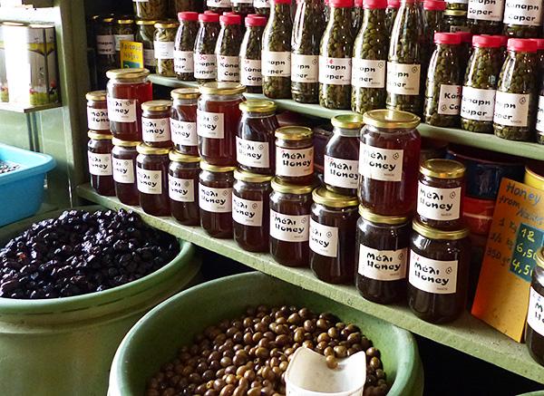 miel de naxos et olives