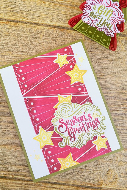 Fancy Pants Holiday Sentiments and Christmas Tree Change Up Stamps by Papertrey Ink