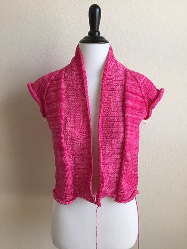 Featherweight cardigan in pop rocks