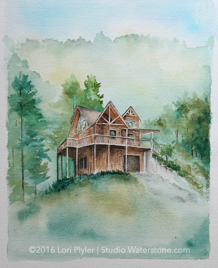Cabin House Portrait