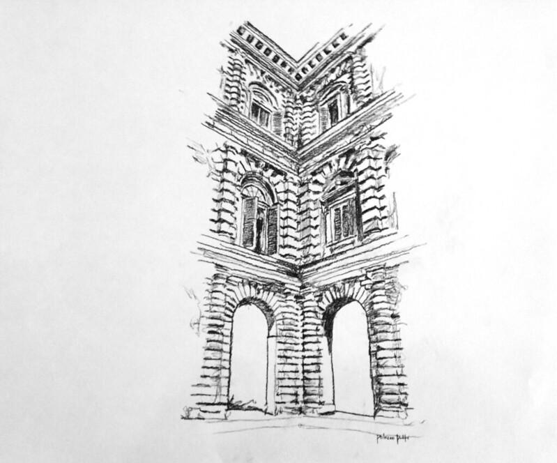 Kleeman drawings NReid-2002 (15) Palazzo Pitti