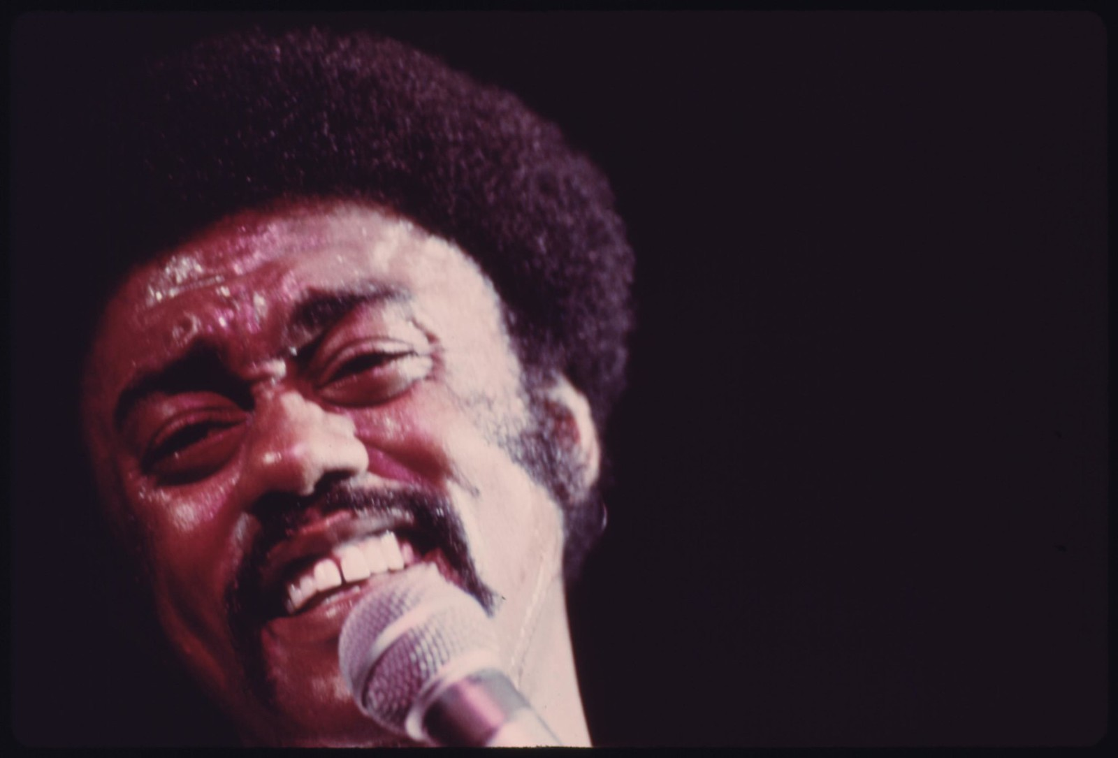 Black Soul Singer Johnny Taylor Performs At The International Amphitheater In Chicago, 10/1973 | by The U.S. National Archives