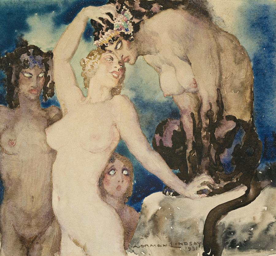 Norman Lindsay - The Sphinxs Secret, 1931
