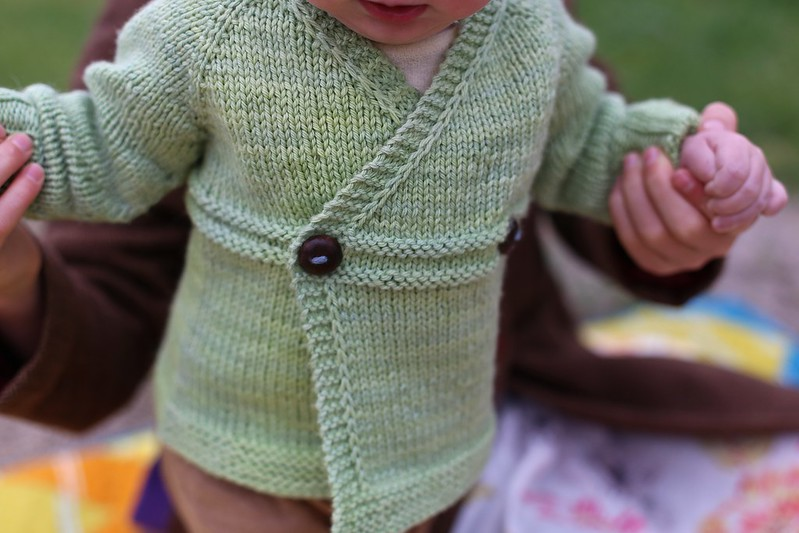small things sweater with wooly moss roots buttons