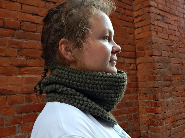 снуд тёплый на осень и зиму, связан крючком из Троицкой Алисы | HoroshoGromko.ru