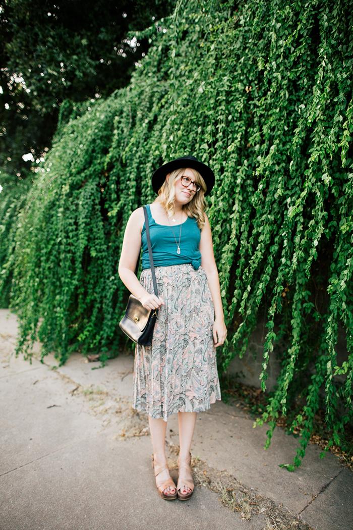 pieceology vintage midi skirt3