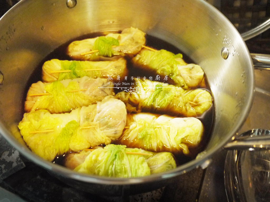 孤身廚房-大潤發義大利樂鍋史蒂娜湯鍋試用—日式白菜雞肉捲20