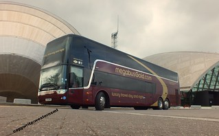SF13FMC Megabus Gold Vanhool on a photoshoot at Glasgows science centre . | by WesternSMT
