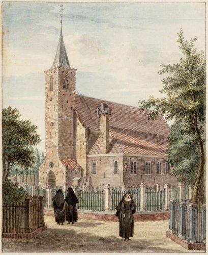 Béguinage sur une illustration de 1768.