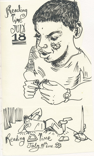 Sketchbook #99 - Reading Time