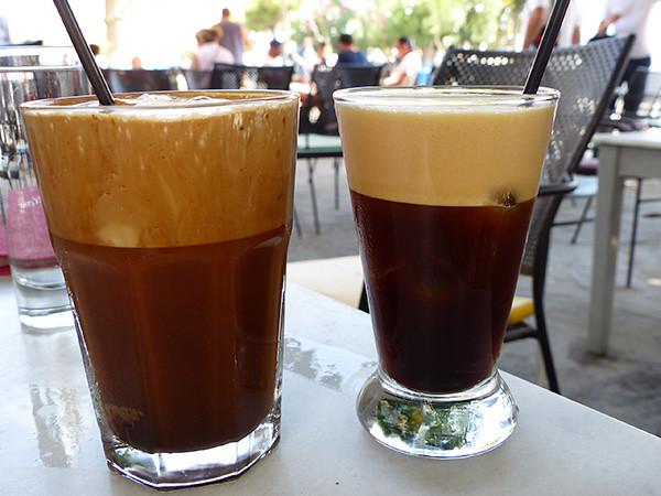 café glacé à Paros