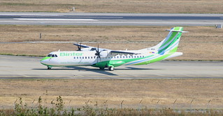 DELIVERY FLIGHT OF THE ATR 72-600 BINTER CANARIAS EC-MNN AT TOULOUSE AIRPORT SEPTEMBER 30,2016