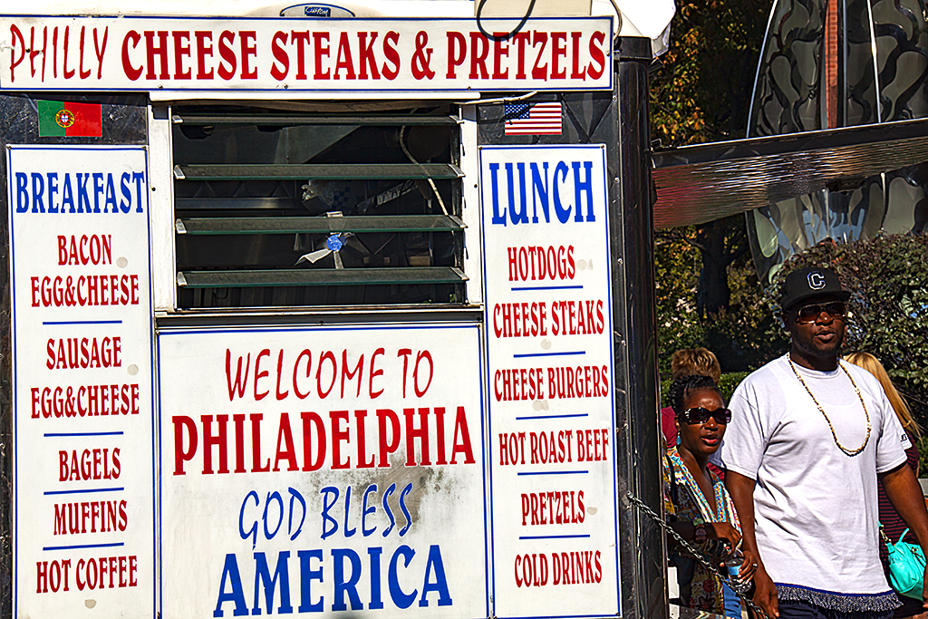 WELCOME TO PHILADELPHIA GOD BLESS AMERICA--Old City