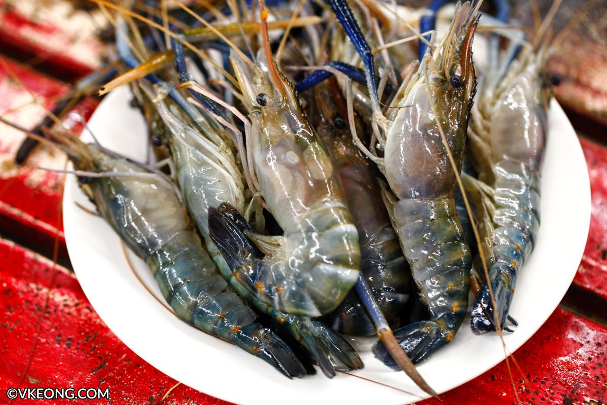 Mangkorn Seafood Raw River Prawns