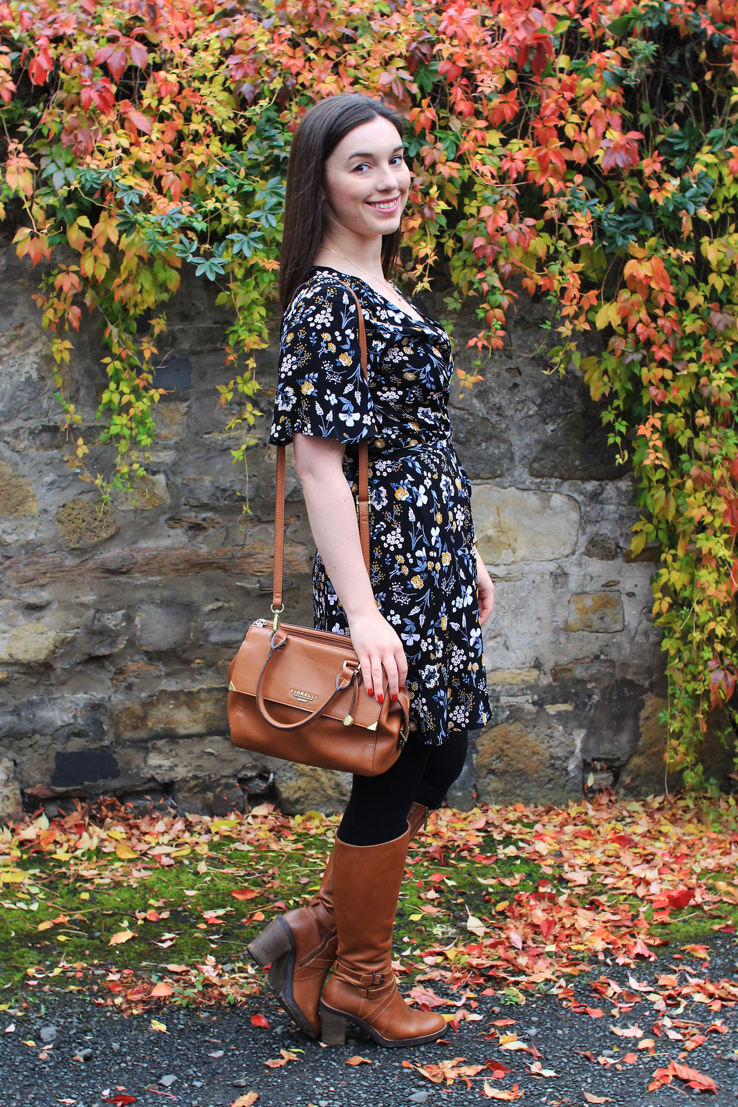 New Look AW16 floral dress fashion blogger The Little Things Edinburgh UK