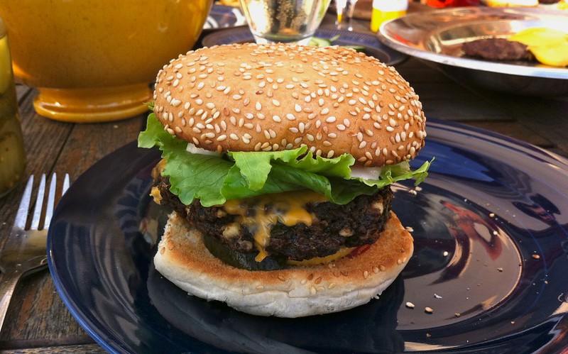 vegetariska hamburgar