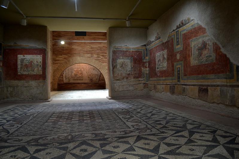 Frescos de una casa romana.