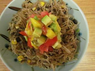 Spaghetti Squash Mexicanan with Tropical Avocado Salsa Fresca