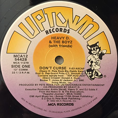 HEAVY D & THE BOYZ:DON'T CURSE(LABEL SIDE-A)