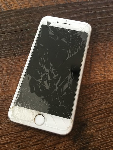 My cracked iPhone screen