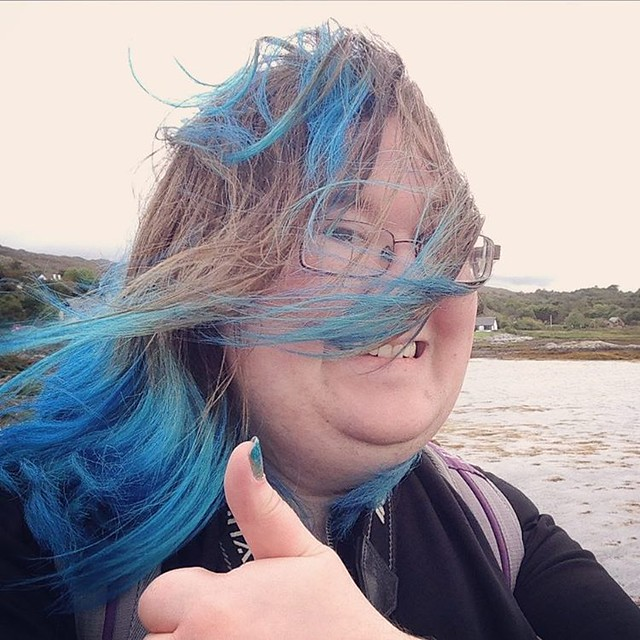 Looking windswept and interesting! XD  Arisaig, Inner Hebrides  #innerhebrides #Scotland #scottishscenery #Scottishhighlands #arisaig #selfie #windsweptandinteresting #crappyselfie