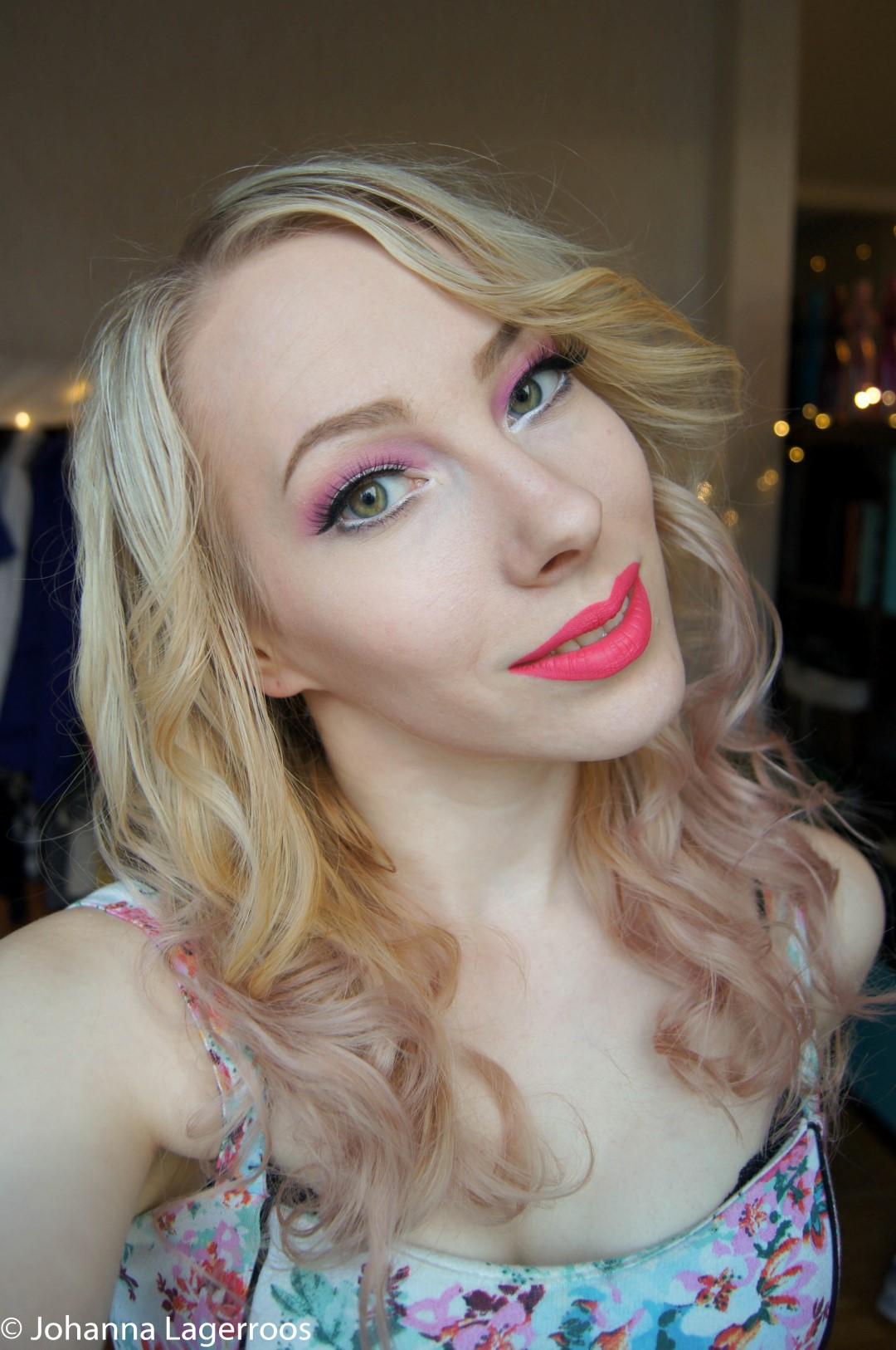 Girly makeup