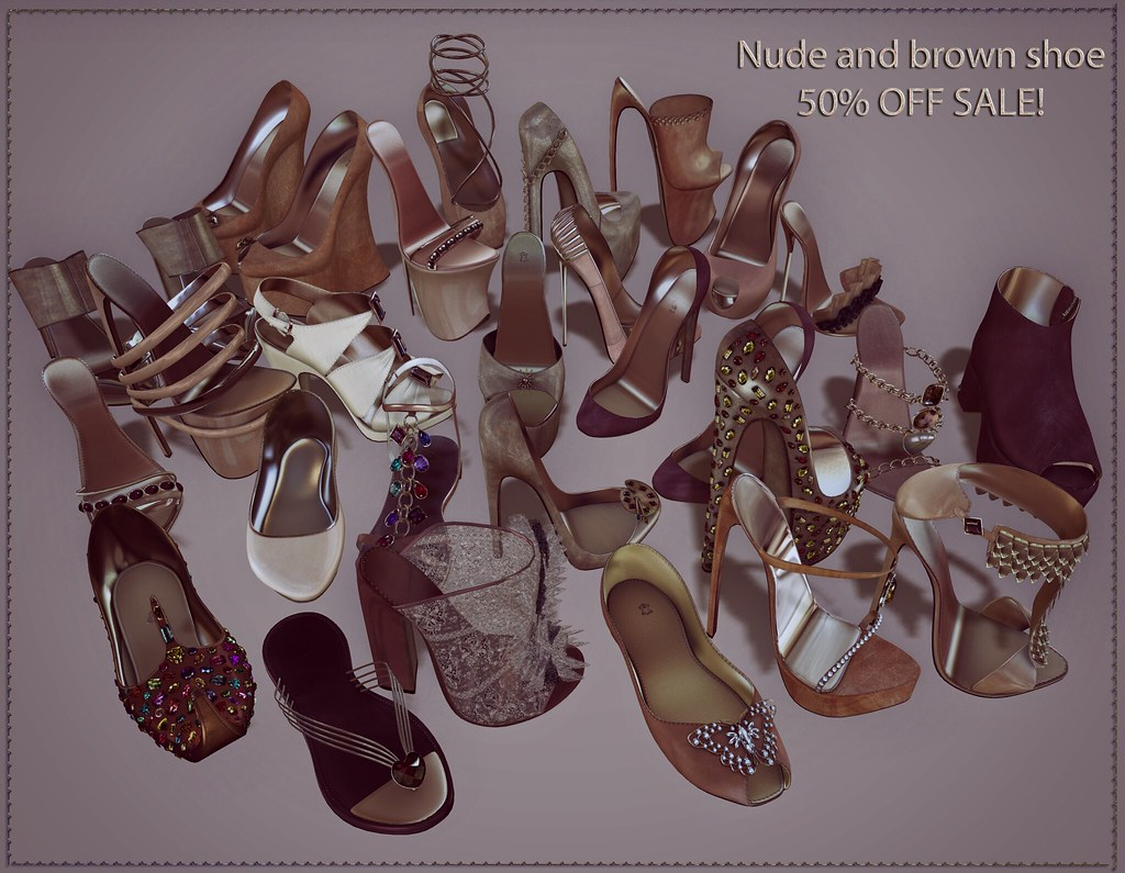 Nude and Brown footwear SALE 50 off @ ChicChica!!!