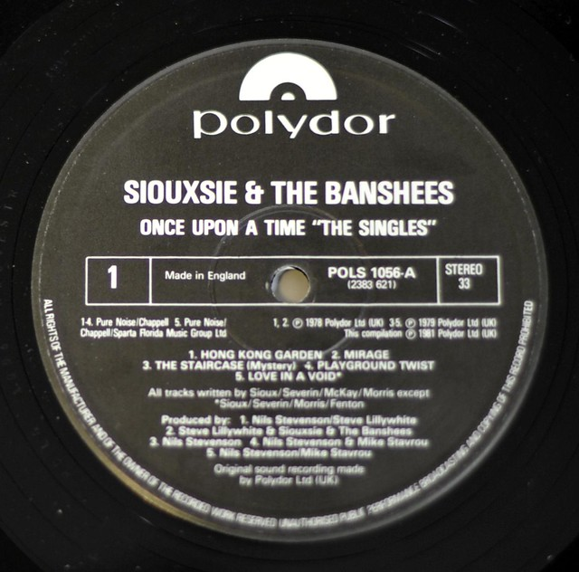 "SIOUXSIE & THE BANSHEES - ONCE UPON A TIME ""THE SINGLES"" 12"" LP VINYL"