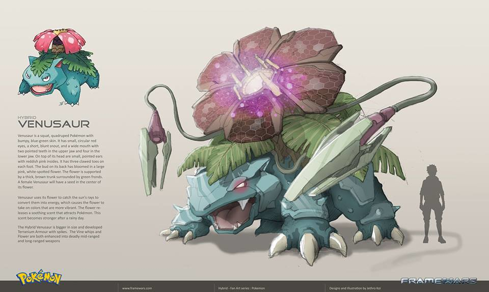 Metal Hybrid Pokemon - Venusaur - by Frame Wars