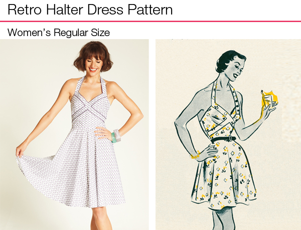 Retro Halter Dress Pattern