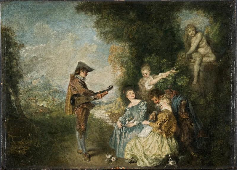 Antoine Watteau - The Love Lesson (1716)