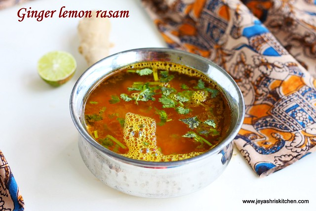 Ginger lemon rasam